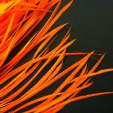 Orange Goose Biot Feathers